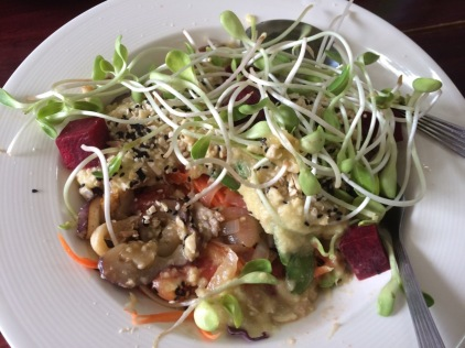 Colourful vegan Thai dish