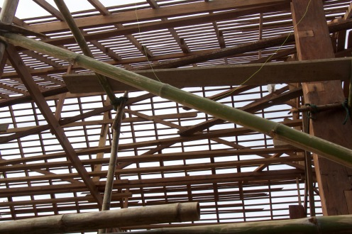 The roof timbers