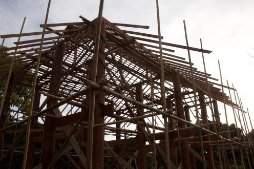 Bamboo scaffolding