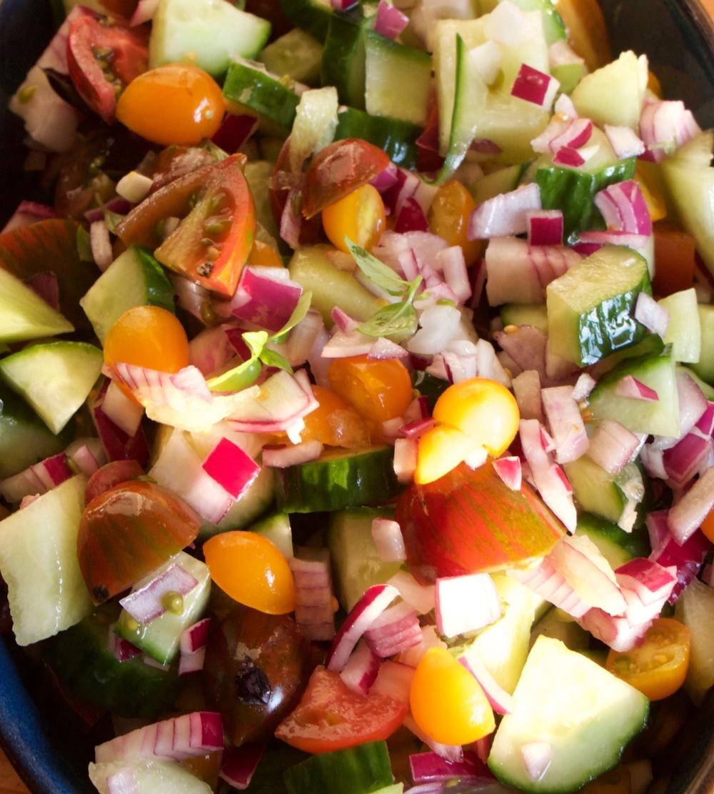 salsa - melon, cucmber, tomato