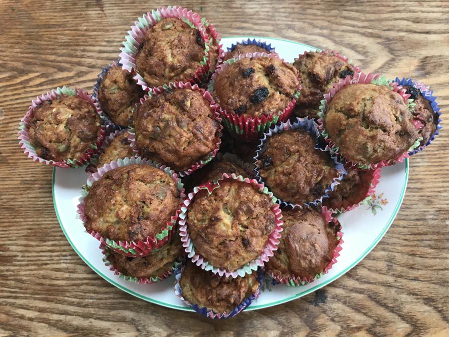 Crunchy Courgette Gardener's Muffins