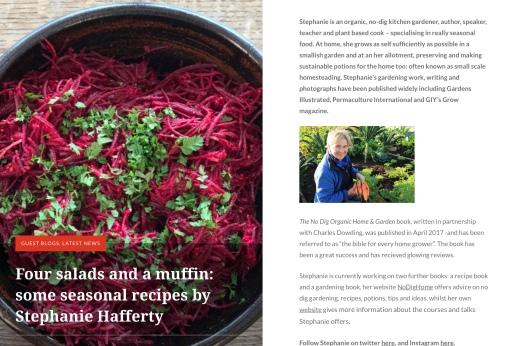 Stephanie Hafferty, No Dig Gardening, Mr Plant Geek, Michael Perry
