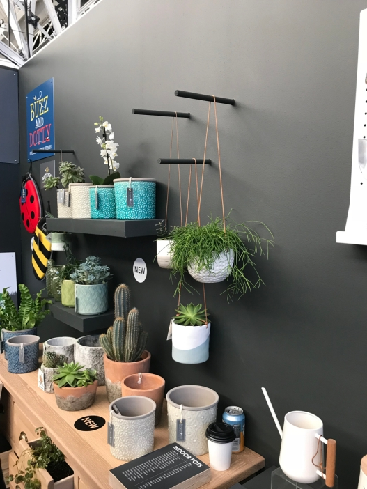 And the hanging plant pots