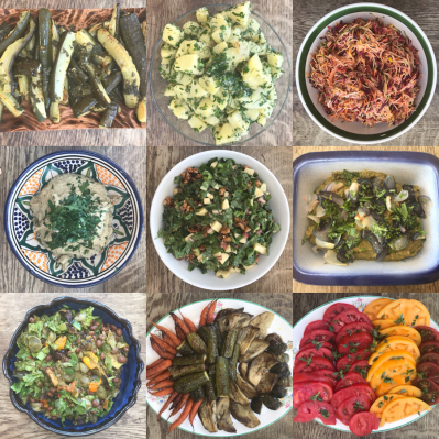 no dig gardening course lunch dishes