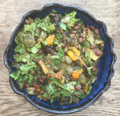 Roast veg and borlotti beans