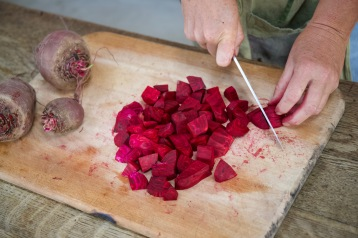 2.7: chopping beetroot